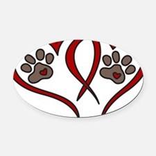 Puppy Love Oval Car Magnet