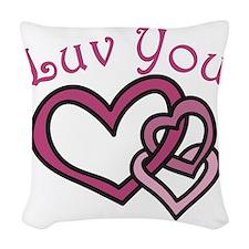 Luv You Woven Throw Pillow