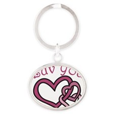 Luv You Oval Keychain