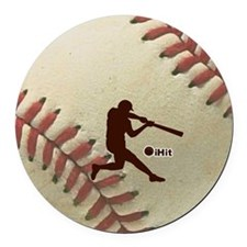 iHit Baseball Round Car Magnet