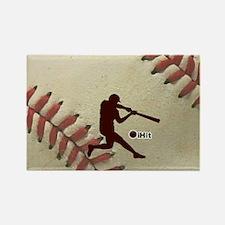 iHit Baseball Rectangle Magnet