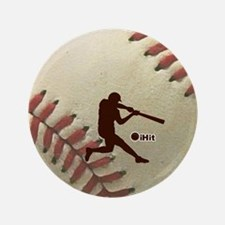 "iHit Baseball 3.5"" Button"