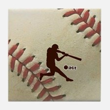 iHit Baseball Tile Coaster