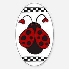 Ladybug Bug Sticker (Oval)