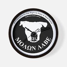 Molon Labe (dog head) Wall Clock
