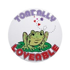 Toadally Loveable Round Ornament
