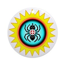 SOUTHEAST INDIAN WATER SPIDER Round Ornament