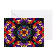 Kaleidoscope Fractal Greeting Card