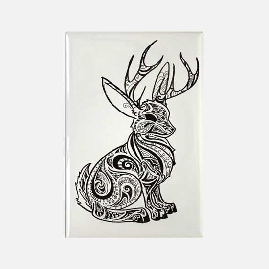 Jackalope Rectangle Magnet