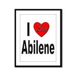 I Love Abilene Framed Panel Print