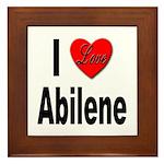 I Love Abilene Framed Tile