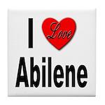 I Love Abilene Tile Coaster