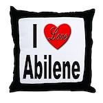 I Love Abilene Throw Pillow