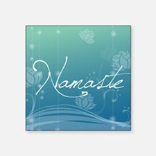 "Namaste Round Coaster Square Sticker 3"" x 3"""