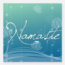 "Namaste Round Car Magnet Square Car Magnet 3"" x 3"""