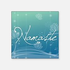 "Namaste Round Car Magnet Square Sticker 3"" x 3"""