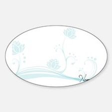 Namaste Magnetic Dry Erase Board Sticker (Oval)