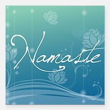 """Namaste Gel Mousepad Square Car Magnet 3"""" x 3"""""""
