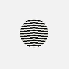 Wavering black and white strips Mini Button