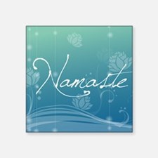 "Namaste Gel Mousepad Square Sticker 3"" x 3"""