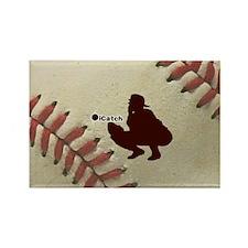 iCatch Baseball Rectangle Magnet