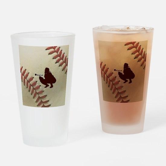 iCatch Baseball Drinking Glass
