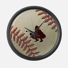 iCatch Baseball Large Wall Clock