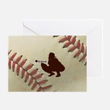 iCatch Baseball Greeting Card