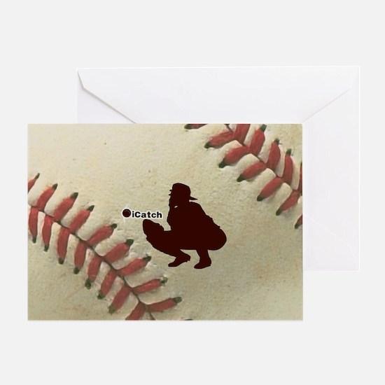 iCatch Baseball Greeting Card