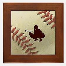 iCatch Baseball Framed Tile