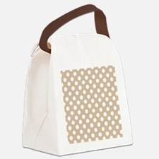 beige Canvas Lunch Bag