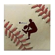 iPitch Baseball Tile Coaster