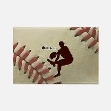 iPitch Baseball Rectangle Magnet