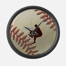 iPitch Baseball Large Wall Clock