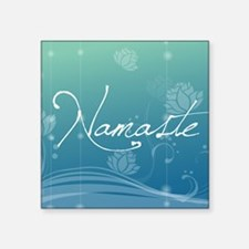 "Namaste Beer Label Square Sticker 3"" x 3"""