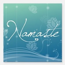 "Namaste Beer Label Square Car Magnet 3"" x 3"""