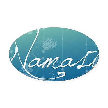 Namaste Aluminum License Plate Oval Car Magnet