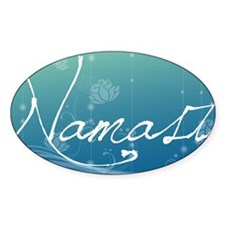 Namaste Aluminum License Plate Decal