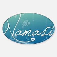 Namaste Aluminum License Plate Decal
