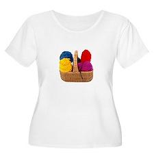Yarn Basket - Colorful Yarn T-Shirt