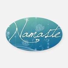 Namaste Laptop Skins Oval Car Magnet