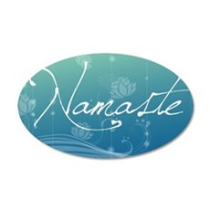 Namaste Laptop Skins 35x21 Oval Wall Decal