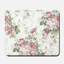 vintage rose Mousepad