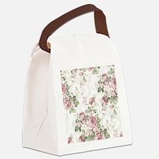 vintage rose Canvas Lunch Bag