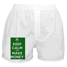 Keep Calm and Make Money Boxer Shorts