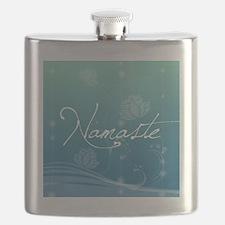 Namaste Round Compact Mirror Flask