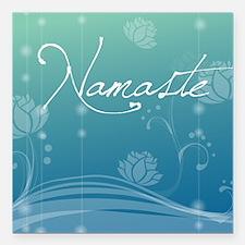"Namaste Square Coaster Square Car Magnet 3"" x 3"""