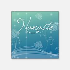 """Namaste Square Coaster Square Sticker 3"""" x 3"""""""