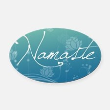 Namaste Rectangular Hitch Cover Oval Car Magnet