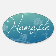 Namaste Rectangular Hitch Cover Sticker (Oval)